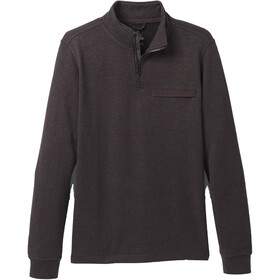 Prana Cardiff 1/4 Zip Oberteil Herren charcoal heather